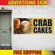 Crab Cakes Advertising Banner Vinyl Mesh Decal Sign Bakery Pastry Pie Muffin Sea