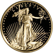 1991-p American Gold Eagle Proof 1/4 Oz 10 - Coin In Capsule