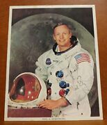 I33 Astronaut Neil Armstrong Signed 8and039and039 X 10and039and039 Official Nasa Color Photoandnbsp