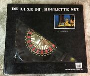 Deluxe 16andrdquo Roulette And Blackjack Set Chips Felt Playing Surface Rake