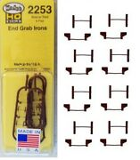 Kadee Ho Scale Freight Car End Grab Irons 4 Pairs 2252 - 2253 - 2254 New