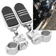 1-1/4 Chrome Highway Foot Pegs Pedals Crash Bar For Harley Touring Motorcycles