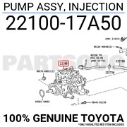 2210017a50 Genuine Toyota Pump Assy Injection 22100-17a50