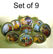 1986 Star Trek Platinum Border Limited Edition Of 1701 Plates-your Choice Or Set