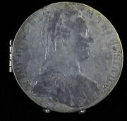 2 1780 Austria Maria Teresa Thalers Made Into 2 Picture Locket Hinged Silver