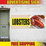 Lobsters Advertising Banner Vinyl Mesh Decal Sign Fresh Seafood Bbq Restaurant
