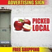 Picked Local Advertising Banner Vinyl Mesh Decal Sign We Sell Buy Sold Here Farm