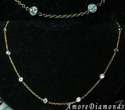 2.52 Ct G Vs2 Round Diamonds By The Yard Necklace 14k Multi Tone Gold 18 Chain