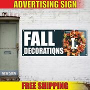 Fall Decorations Advertising Banner Vinyl Mesh Decal Sign Season Accessorie Shop