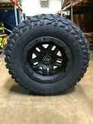 17 Black Rhino Barstow Wheels And 33 Mt Tires Package 5x5 Jeep Wrangler Jk Jl