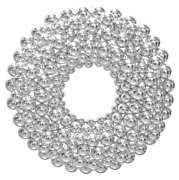 3ft Silver Ball Ornament Wreaths Christmas Wall Hanging Holiday Decor Outdoor