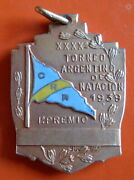 Argentina - 40th Swimming Championship 1939 1st Place 900 Gilded Silver Medal