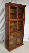 Antique Oak Sectional Danner Company Bookcase Three Sectionals High