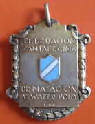 Argentina - Swimming And Water Polo Federation Of Santa Fe 1939, 900 Silver Medal