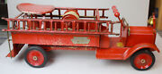 Antique Keystone Packard Model Riding Fire Truck Child's Toy