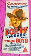 Forty Thieves Hopalong Cassidy Original Cinema Movie Poster N Mint Condition