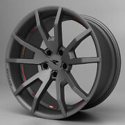 2015 - 2019 Ford Mustang Cdc Outlaw Wheel Set Staggered Gunsmoke 20 Flow Forged