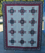 Blooming Quilt Andndash Tufted Design 1993 Made By Pam Miller - Award Winning Quilt