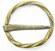 Nice And Original 13th - 14th Century Medieval Silver-gilt Ring Brooch