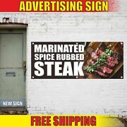 Marinated Spice Rubbed Steak Advertising Banner Vinyl Mesh Decal Sign Grill Bbq