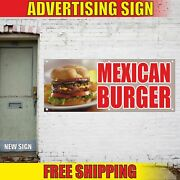 Mexican Burger Advertising Banner Vinyl Mesh Decal Sign Chily Hot Dogs Festival