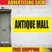 Antique Mall Advertising Banner Vinyl Mesh Decal Sign Collectibles Thrift Flea