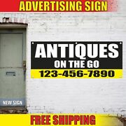 Antiques On The Go Custom Number Advertising Banner Vinyl Mesh Decal Sign Thrift
