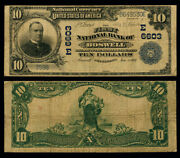 Boswell Pa 10 1902 Pb National Bank Note Ch 6603 First Nb Fine