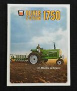 1968 The Oliver 5-6 Plow 1750 Tractor Catalog Brochure Very Nice
