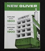 1962 New Oliver 6-plow 1800 8-plow 1900 Tractor Catalog Brochure Very Nice
