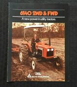 1983 Allis-chalmers 6140 2wd And 4wd Utility Farm Tractor Catalog Brochure Nice