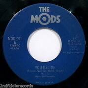 The Mods-you Use Me And Step Outside Tonight-rare Canadian Punk Rock 45-mod 001