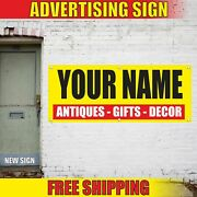 Antiques Gifts Decor Your Name Advertising Banner Vinyl Mesh Decal Sign Shop Now