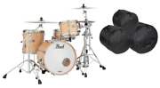Pearl Masters Complete 20x14_12x8_14x14 Maple Drums Kit +bags Authorized Dealer