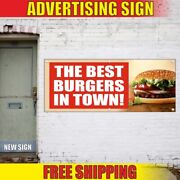 The Best Burgers In Town Advertising Banner Vinyl Mesh Decal Sign Fresh Hot Dogs