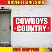 Cowboys Country Advertising Banner Vinyl Mesh Decal Sign Many Size Free Shipping