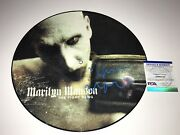 Marilyn Manson Signed Limited 12 Vinyl Record Picture Disc The Fight Song Psa
