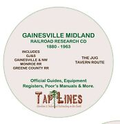 Gainesville Midland Rr- Official Guides Equipment Registers And Research On Cd