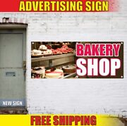 Bakery Shop Advertising Banner Vinyl Mesh Decal Sign Cookies Pastry Homemade Now