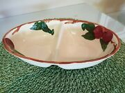 Franciscan Apple Divided Vegetable Dish / Excellent / Circa 1979