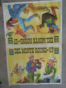 Vintage Double Sided Advertising Poster For Del Monte