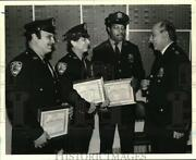 1981 Press Photo Deputy Chief Richard Nicastro And Police Officers Of The Month