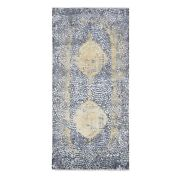 3and0392x9and03910 Gray-gold Wool And Pure Silk Runner Hand Knotted Oriental Rug R47802