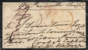 Stamp England 1854 Mourning Cover To Forest Creek Victoria Nsw Castlemaine Back