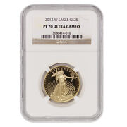 2012-w 25 Eagle Ngc Pf70ucam Ultra Cameo 1/2 Ounce American Gold Proof Coin