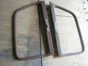 2 Pcs Antique Vintage 1940and039s Plymouth Car Window Frame Only No Glass