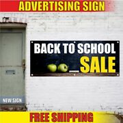 Back To School Sale Advertising Banner Vinyl Mesh Decal Sign Supplies Best Offer
