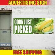 Corn Just Picked Advertising Banner Vinyl Mesh Decal Sign Local Fresh Kettle Cup