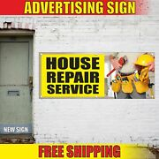 House Repair Service Advertising Banner Vinyl Mesh Decal Sign Fix Home Install