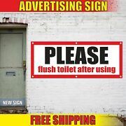Please Flush Toilet After Using Advertising Banner Vinyl Mesh Decal Sign Rest